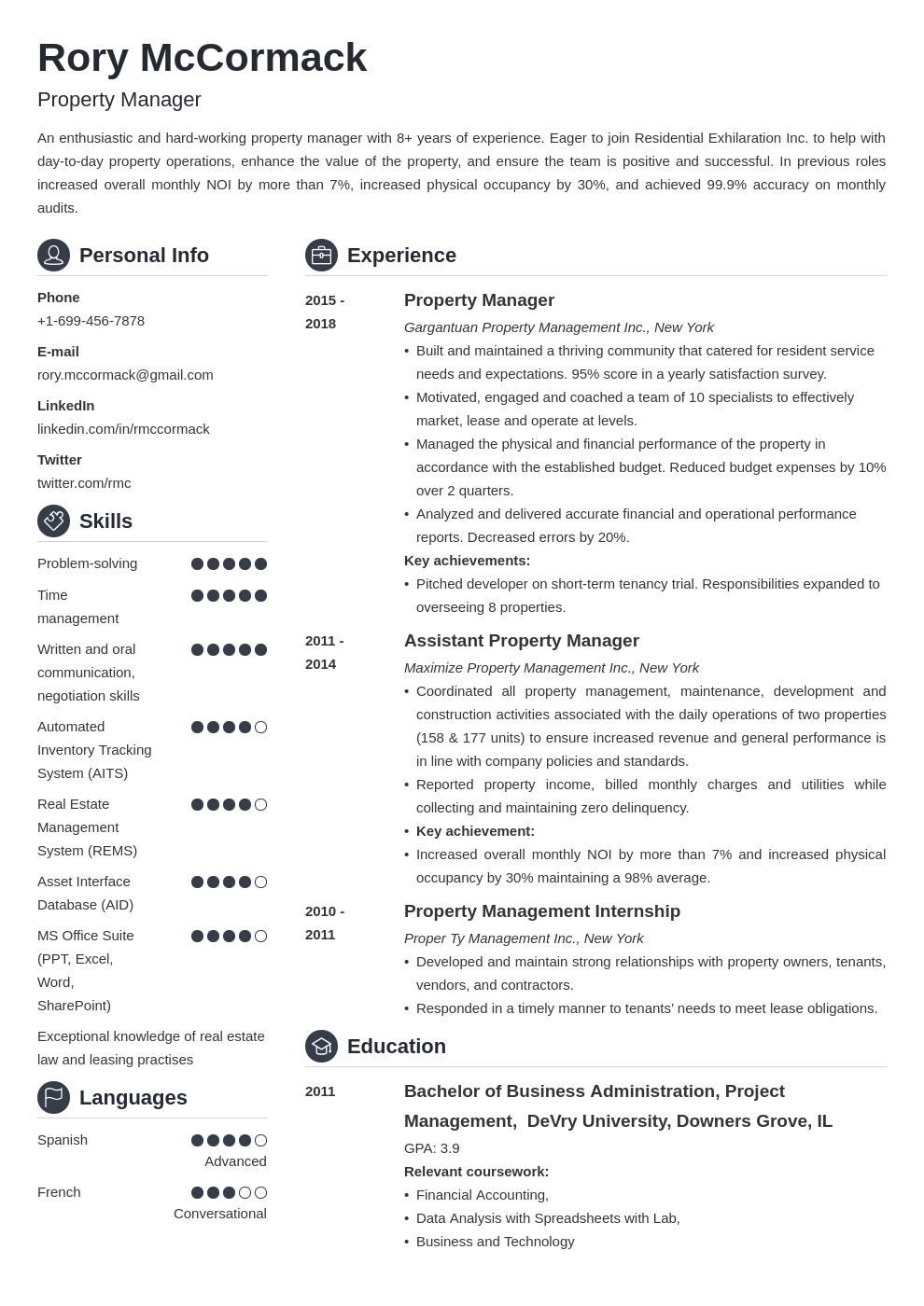 property manager template crisp uk