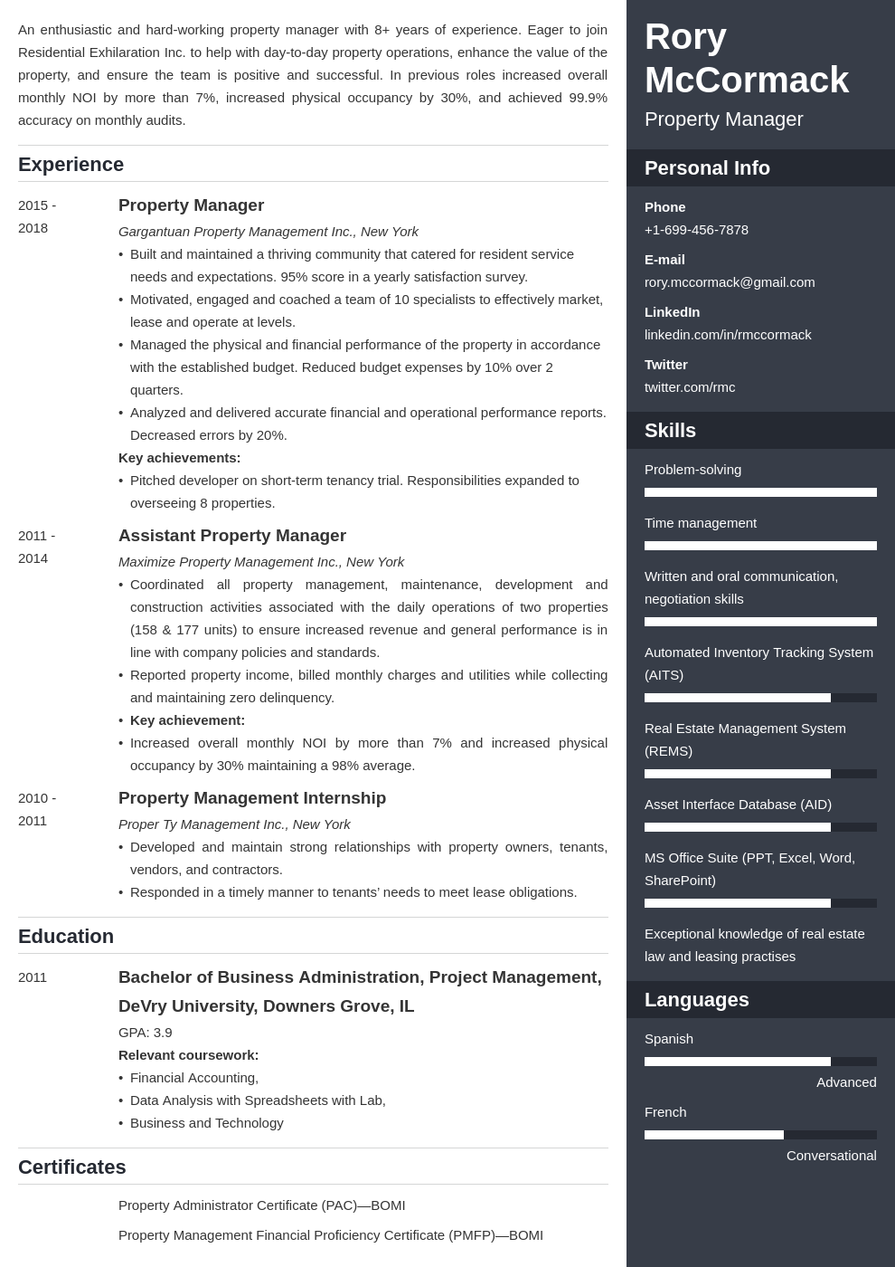 property manager template enfold uk