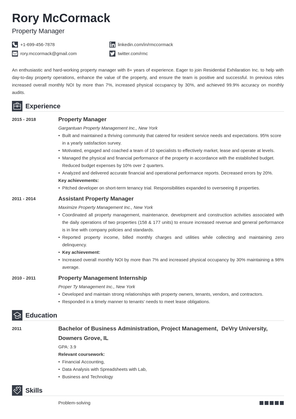 property manager template iconic uk