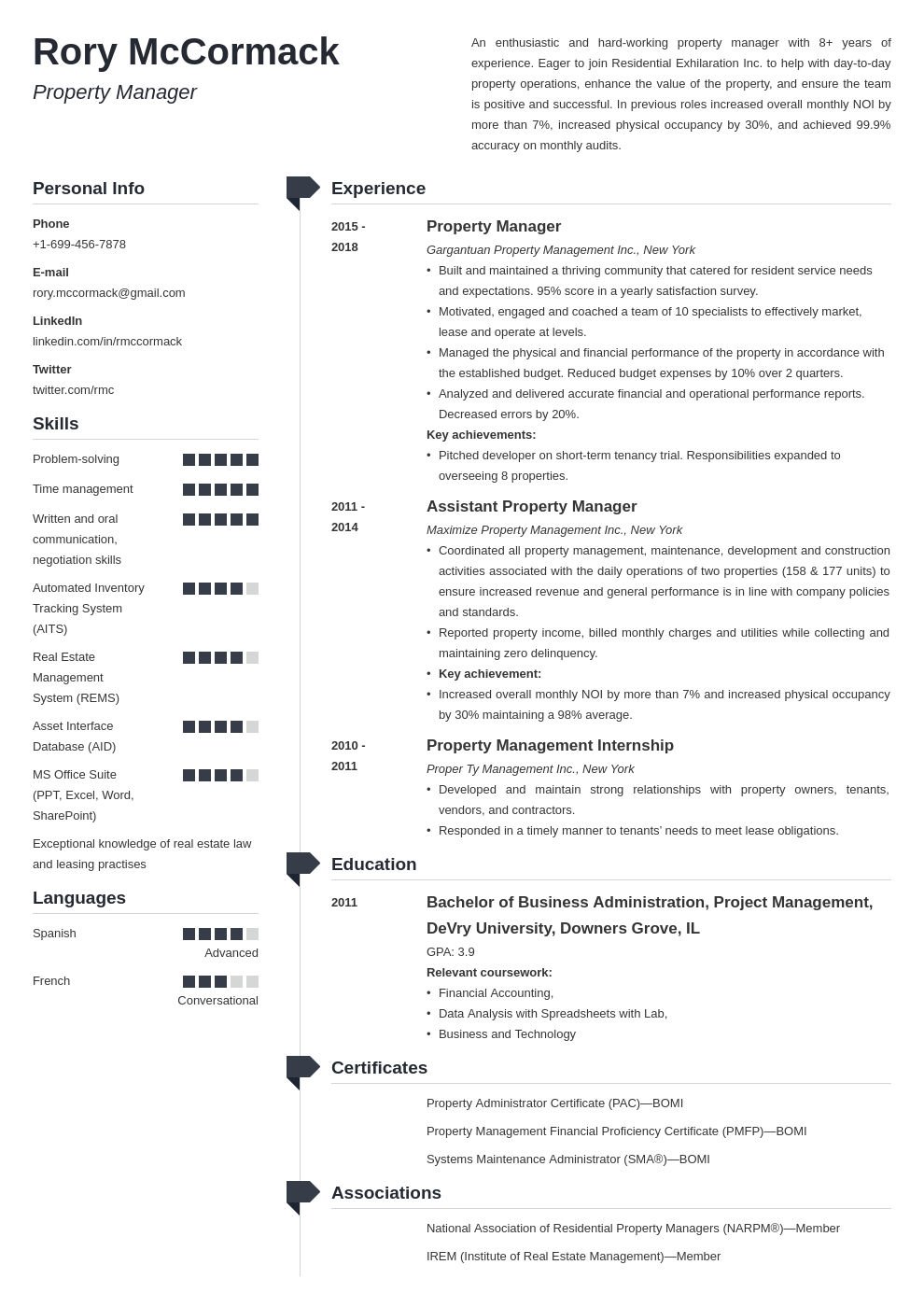 property manager template muse