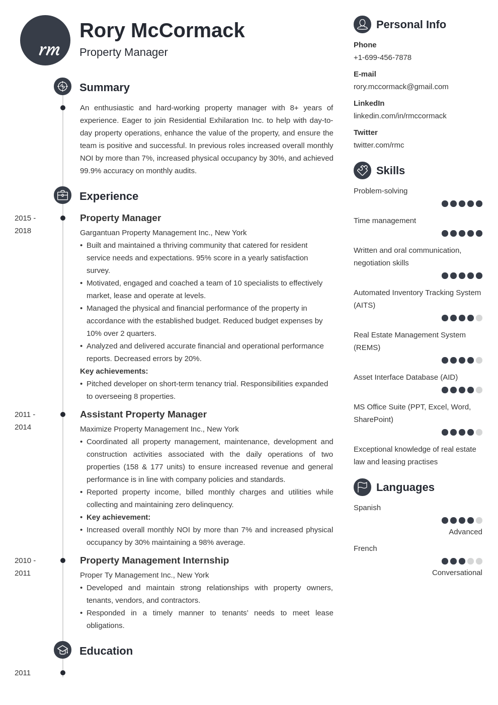 property manager template primo uk
