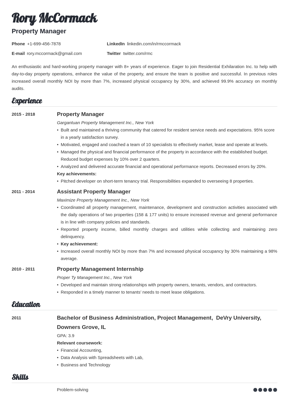 property manager template valera