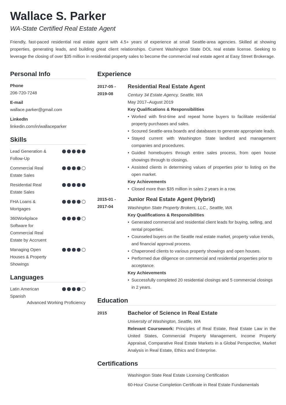 real estate template simple uk