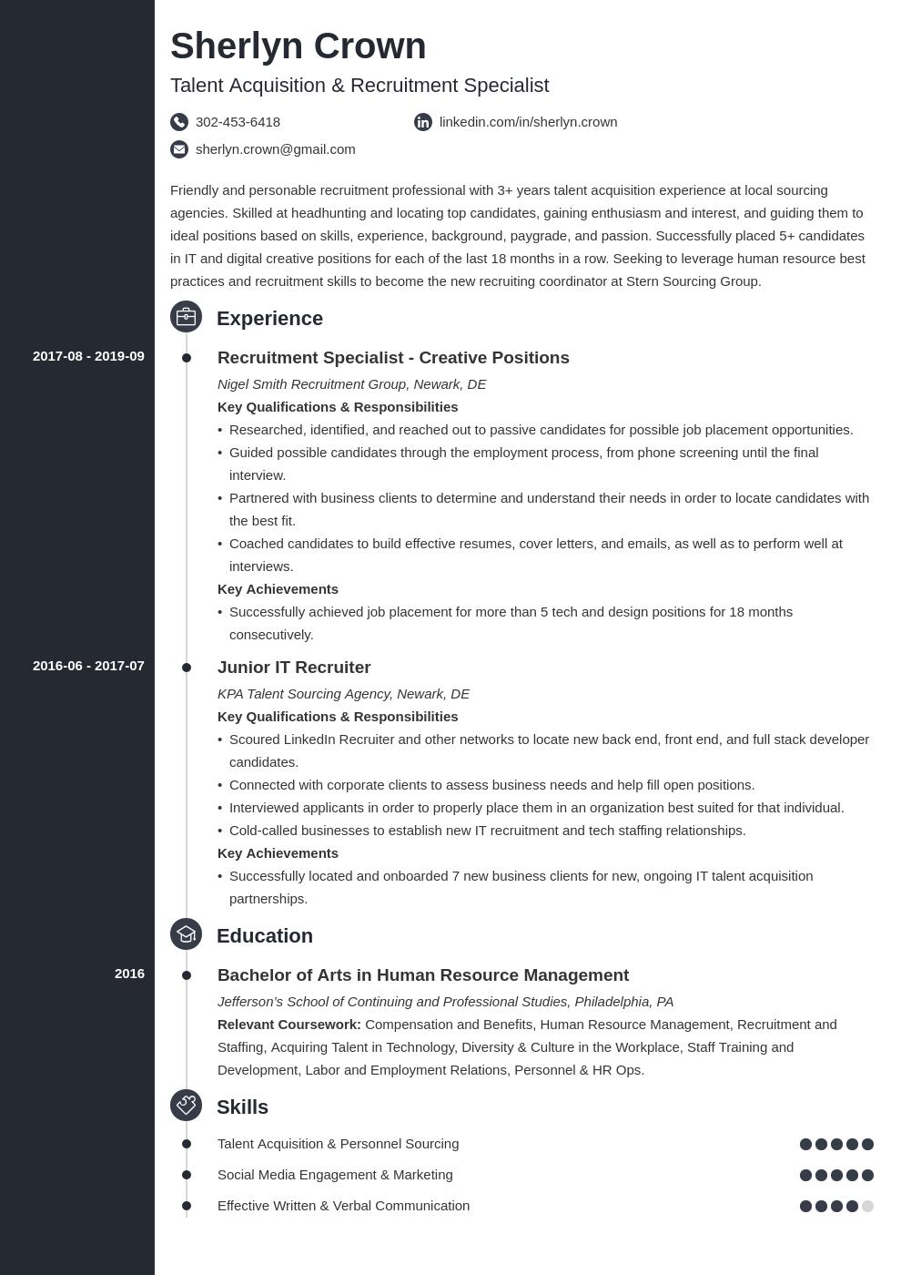 recruiter template concept