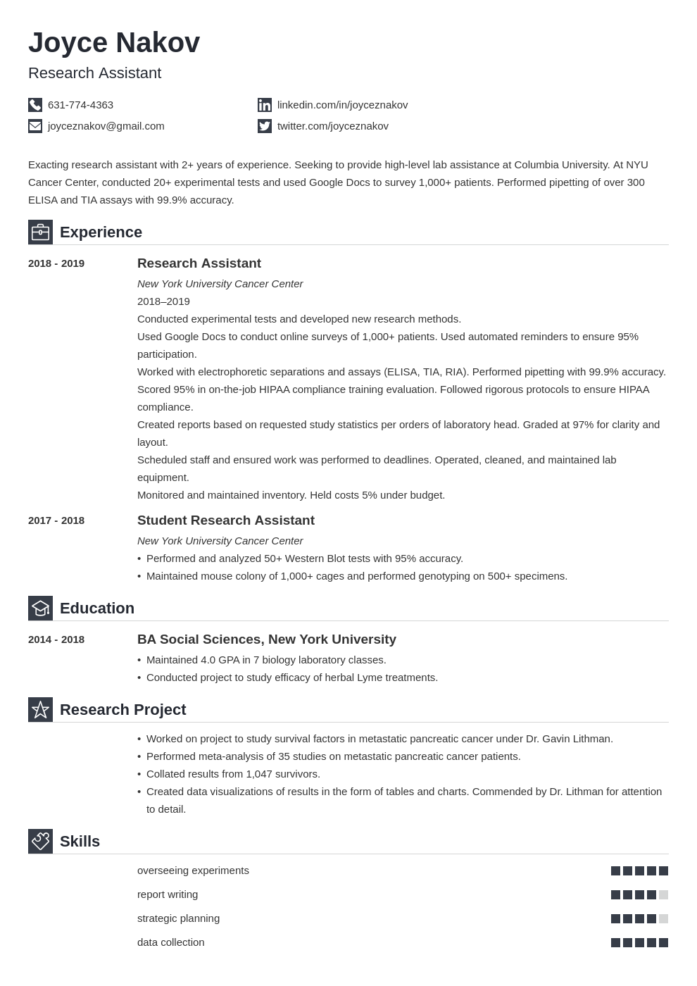 research assistant template iconic uk