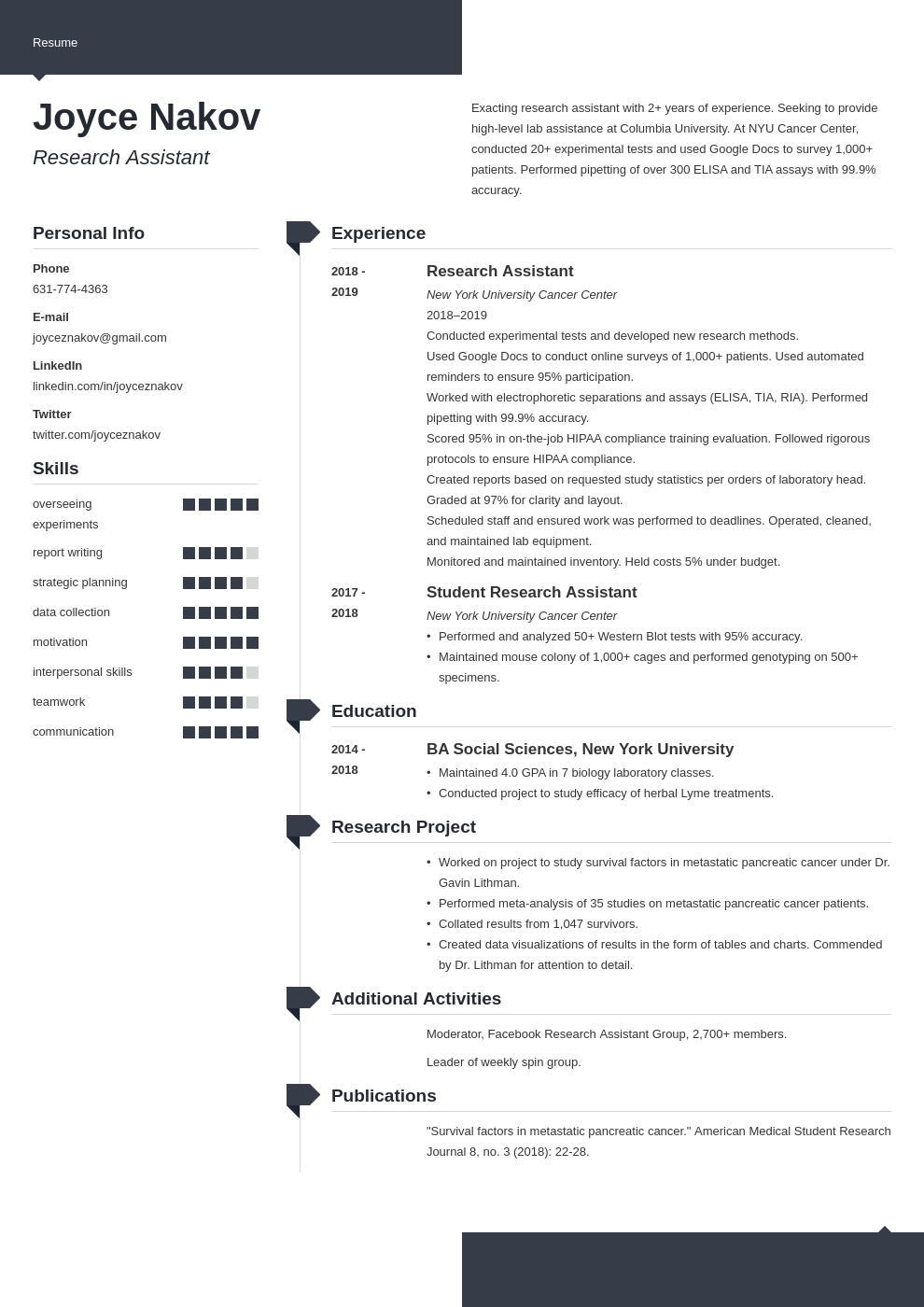 research assistant template modern uk