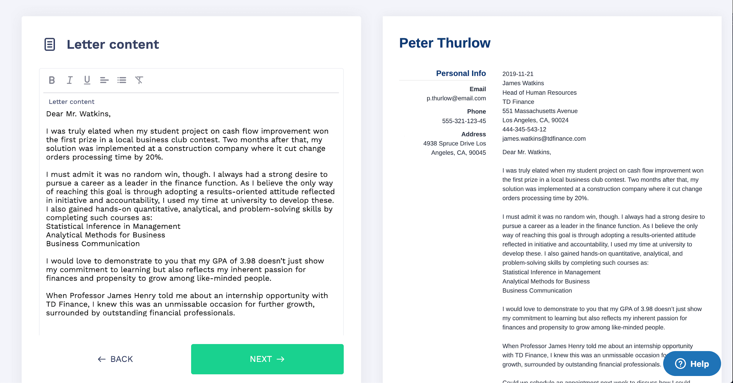 Cover Letter Format: Examples You Can Copy and Use + a Full ...