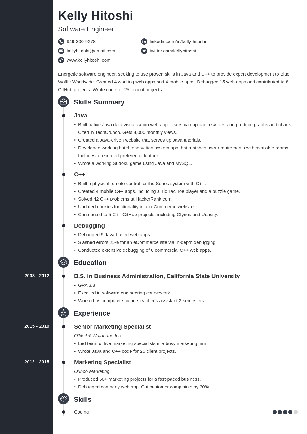 resume career change template concept