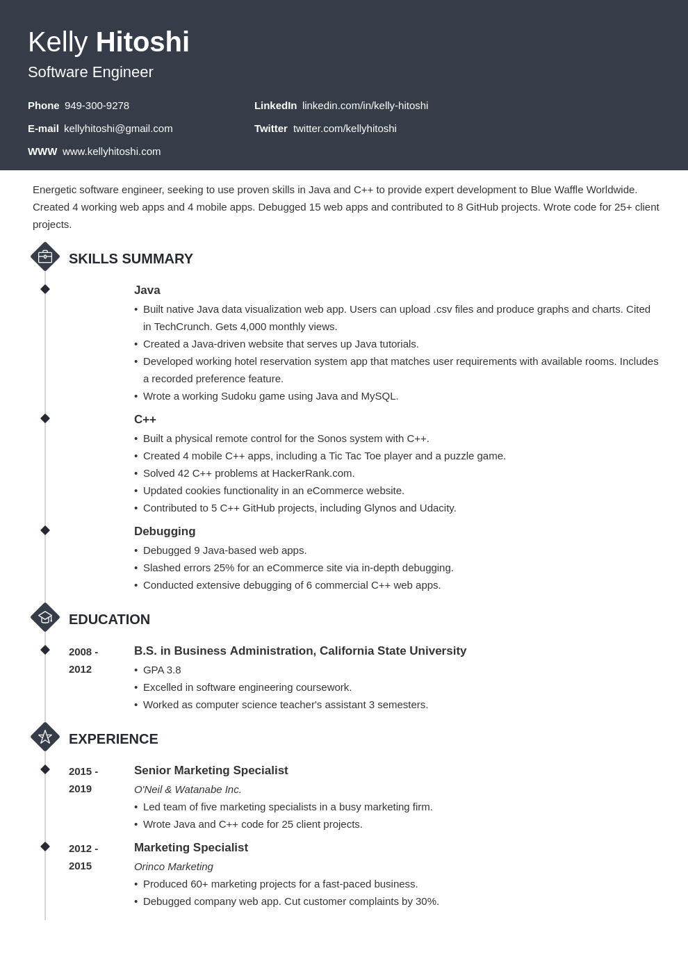 resume career change template diamond