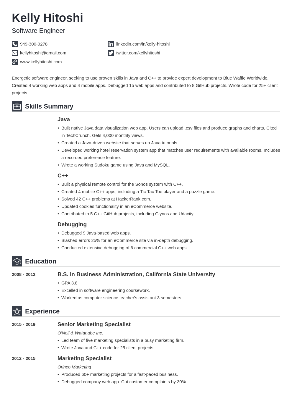 resume career change template iconic