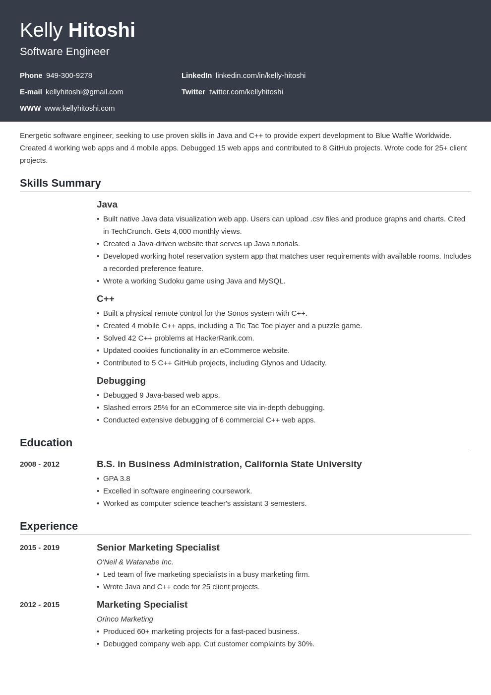 resume career change template influx uk