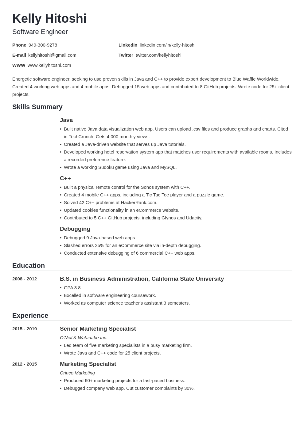 resume career change template nanica