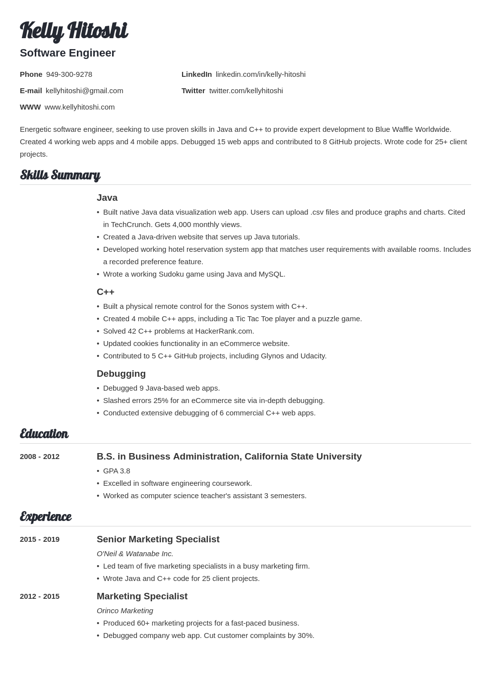 resume career change template valera