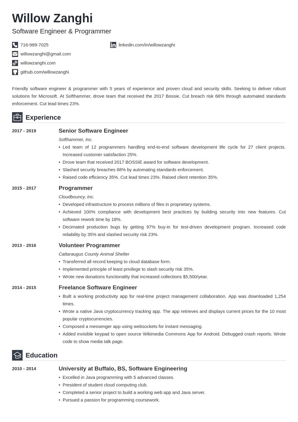 resume chronological template iconic uk