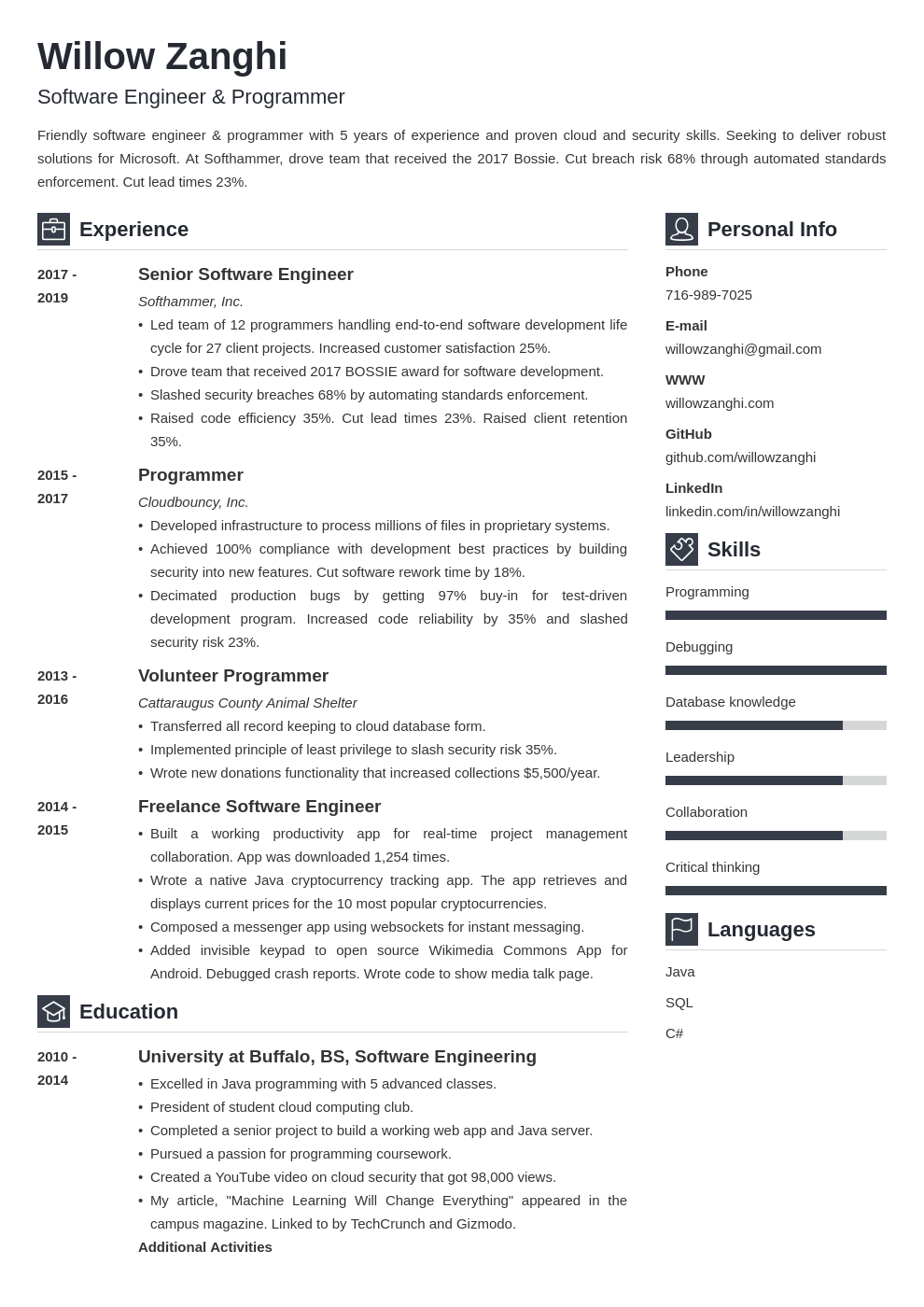 resume chronological template vibes uk