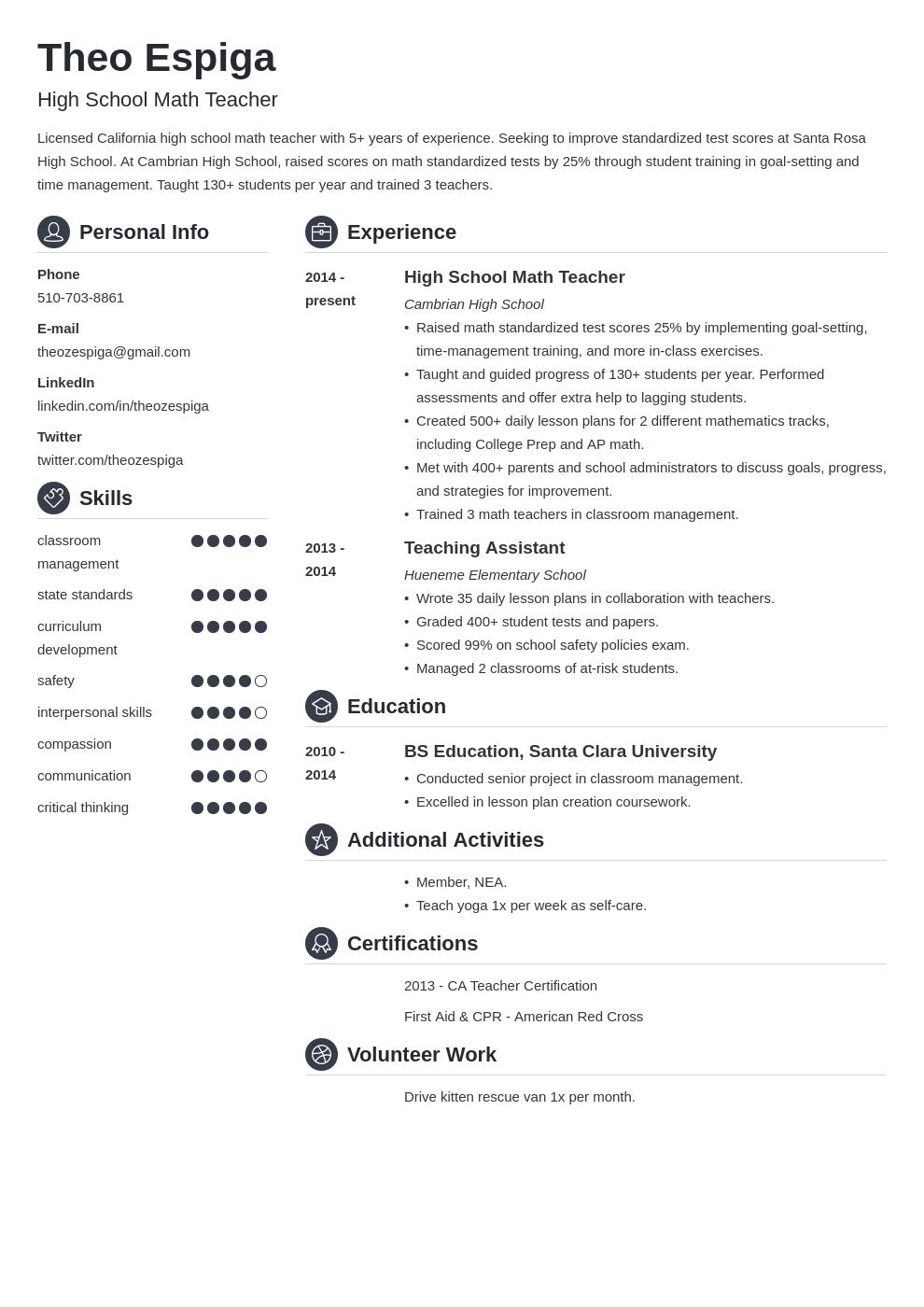 resume education template crisp