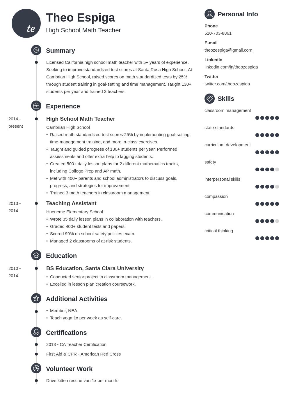 resume education template primo
