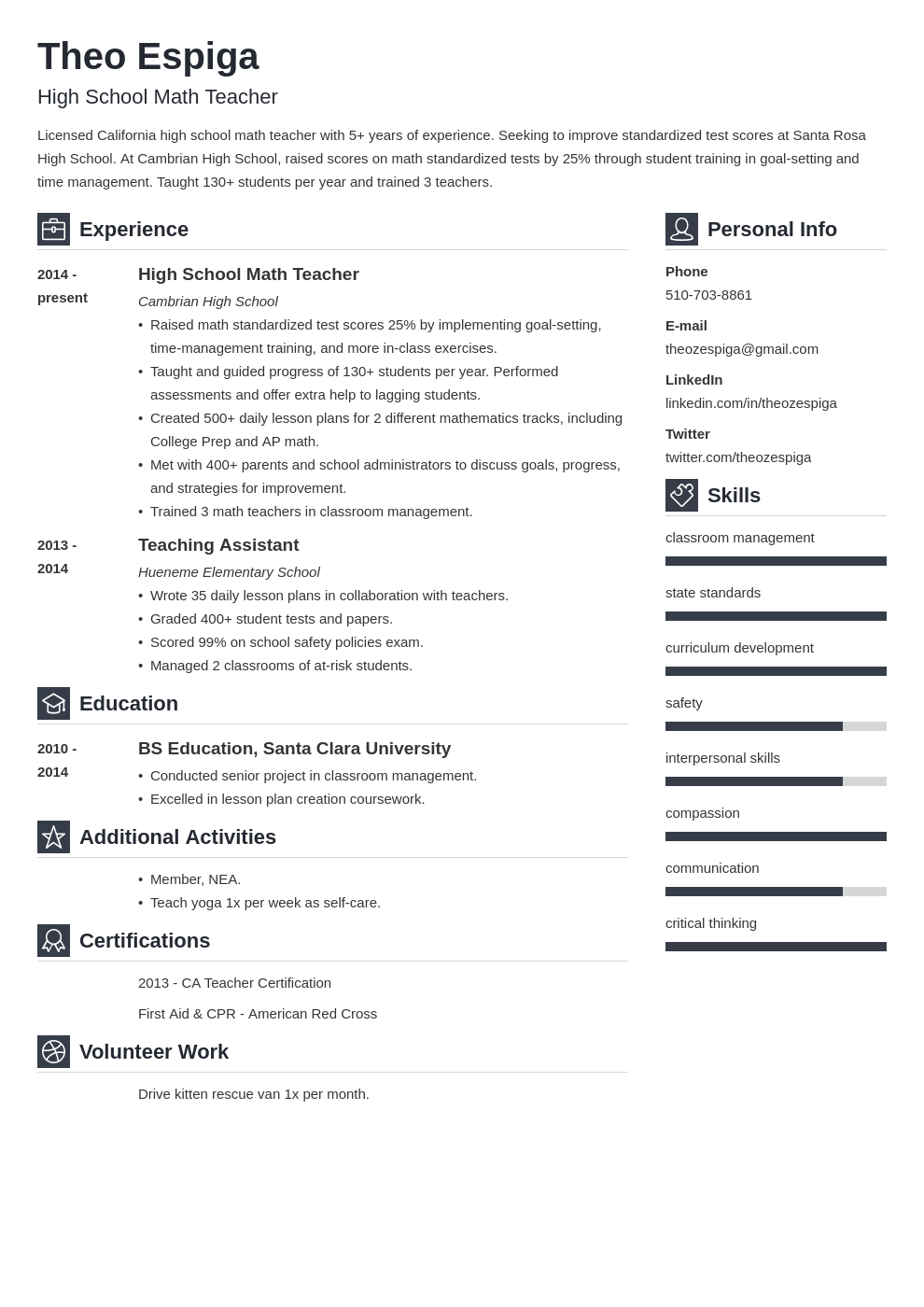 resume education template vibes