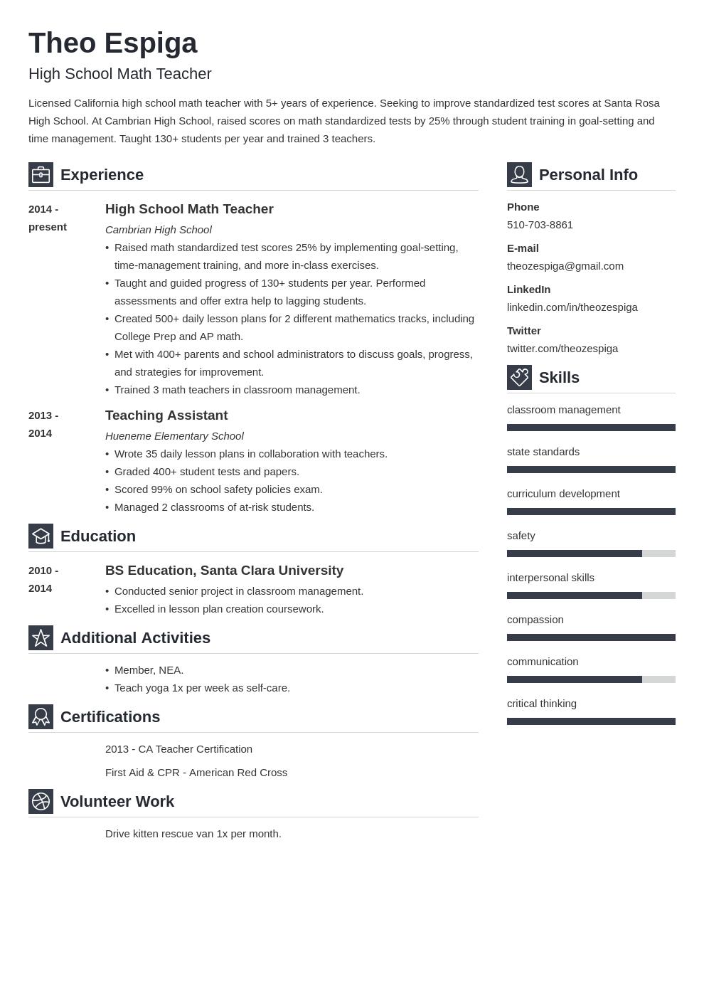resume education template vibes uk
