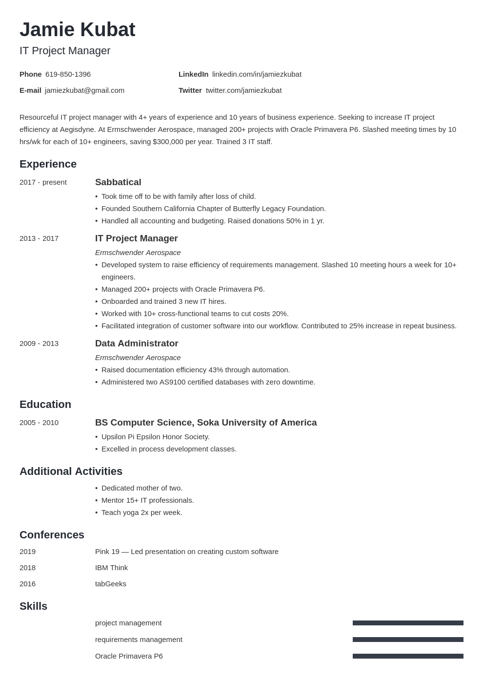 resume employment gaps template minimo uk