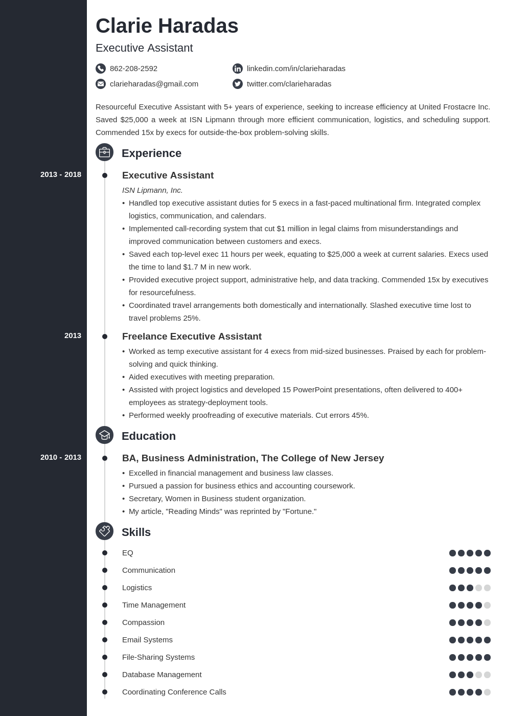 resume format template concept