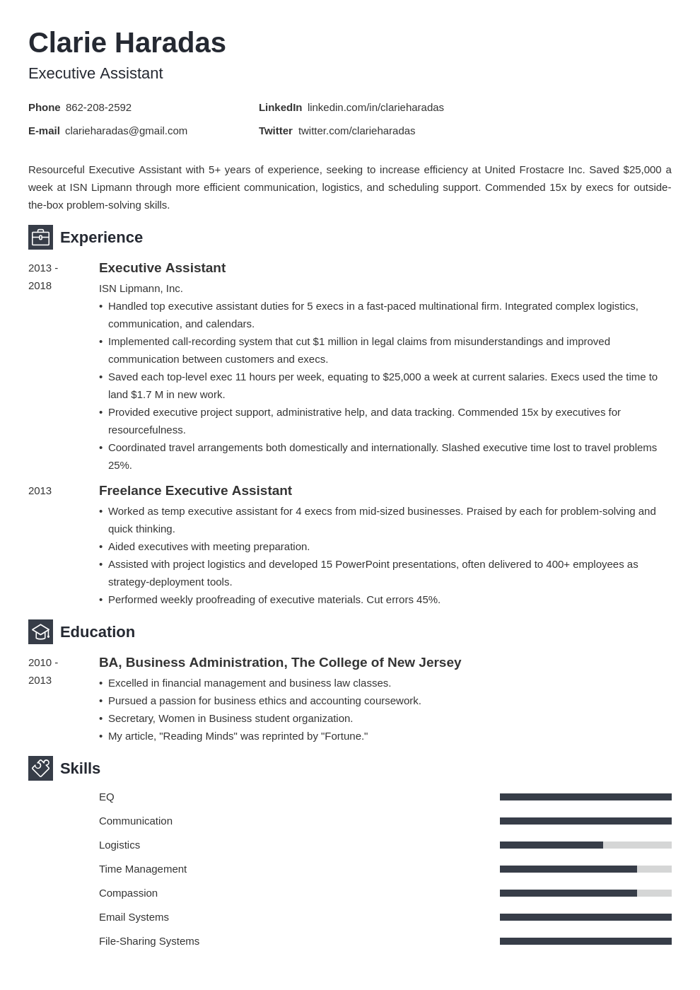 resume format template newcast