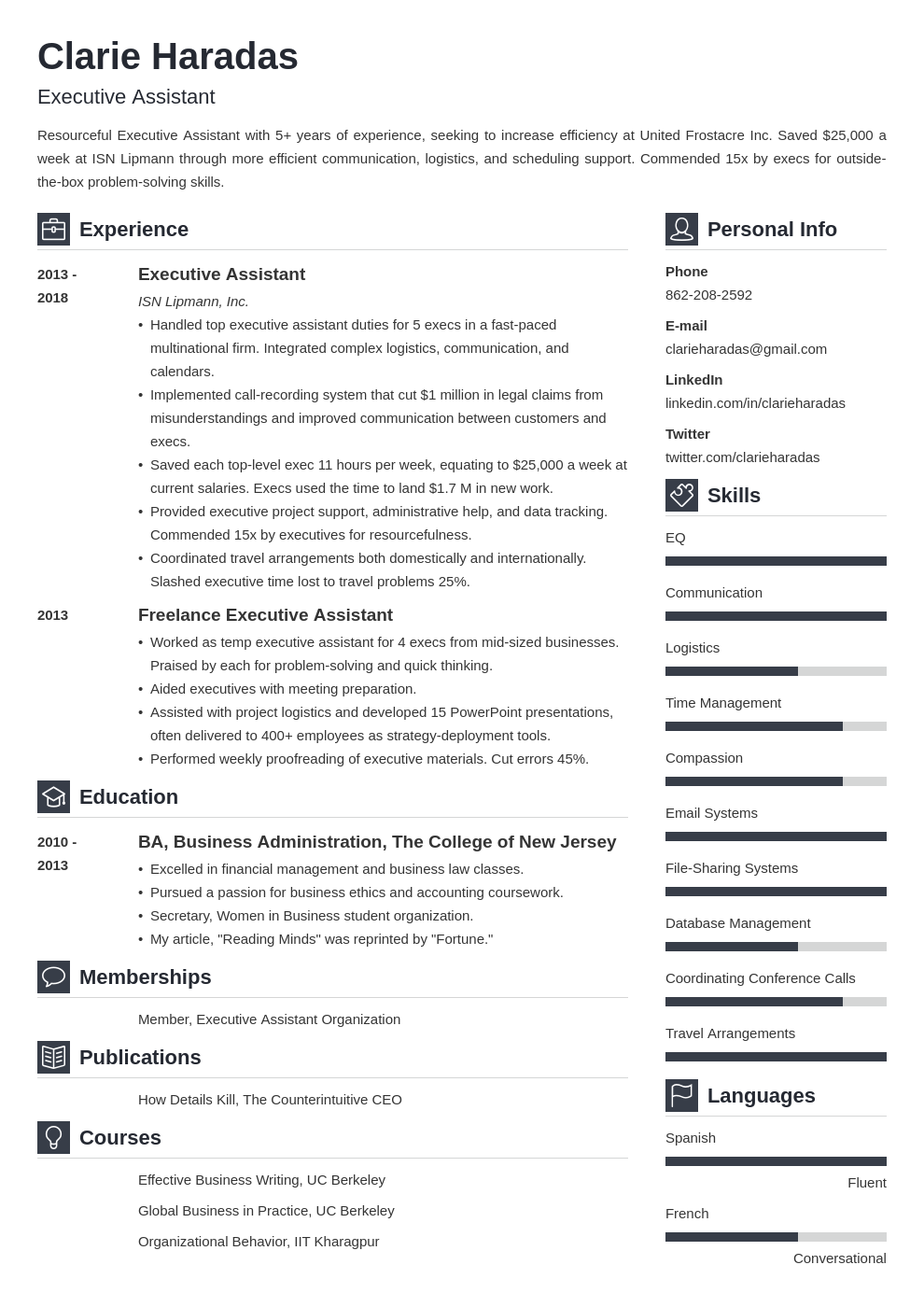 resume format template vibes