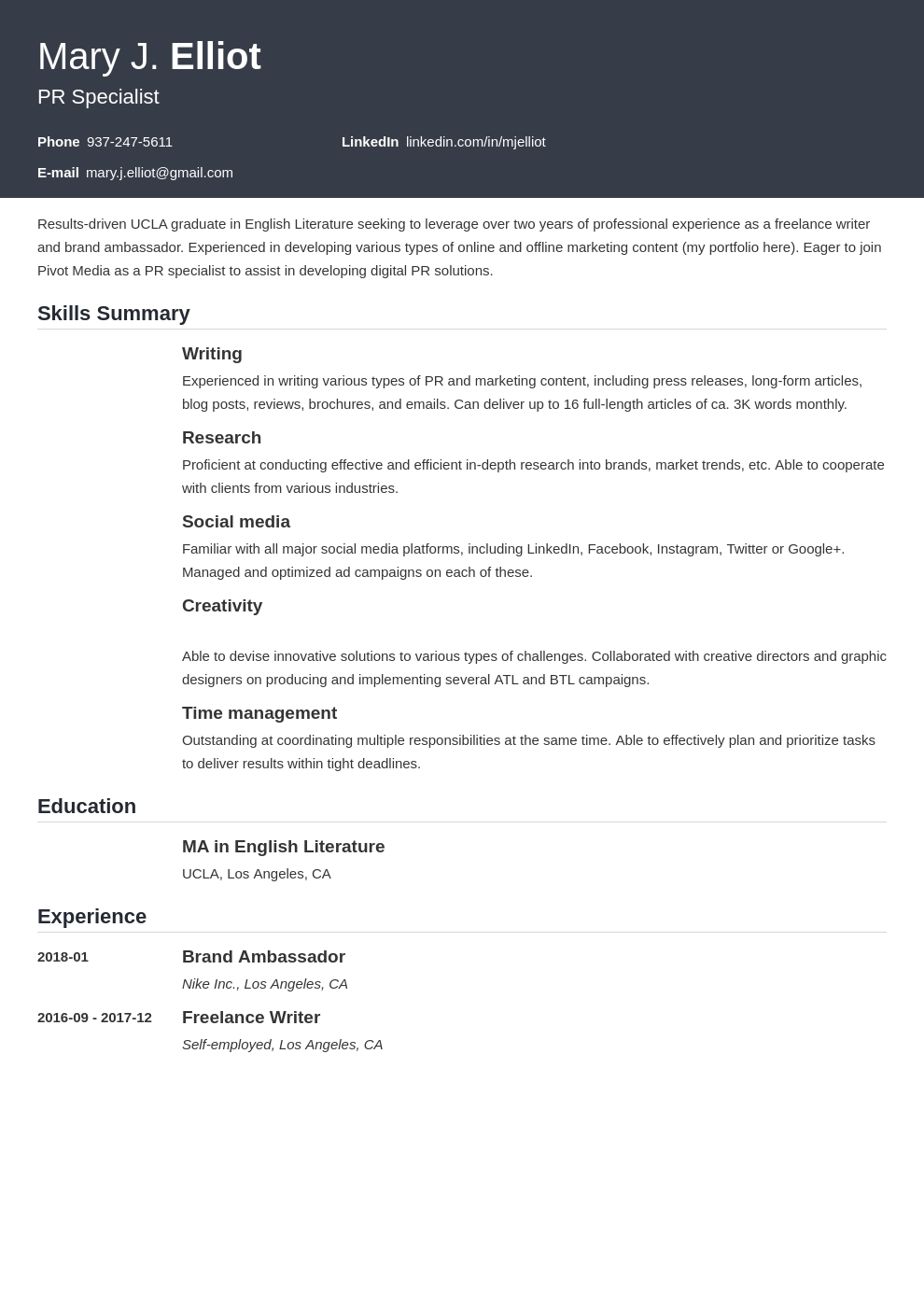 resume functional template influx uk