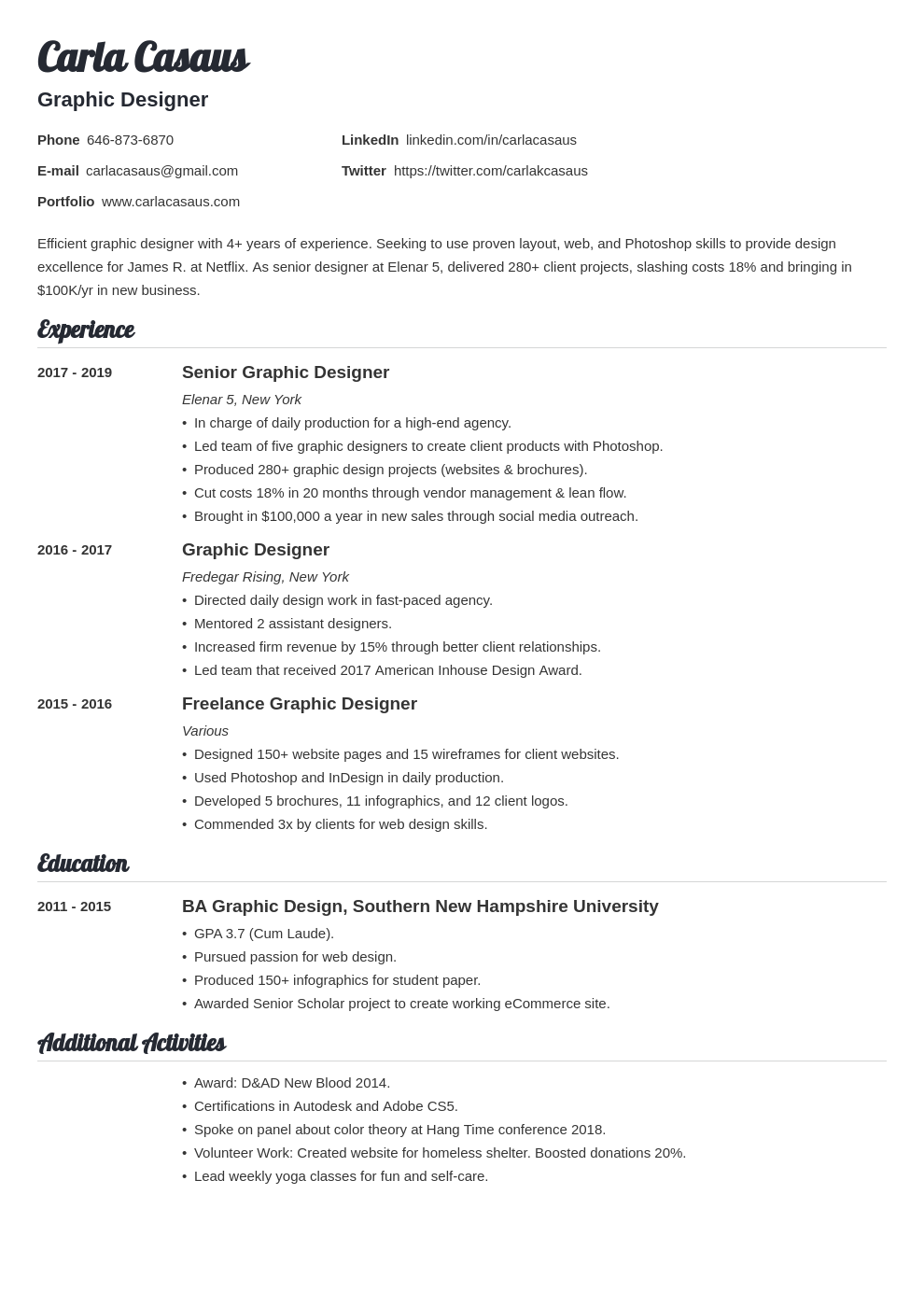 resume how to template valera