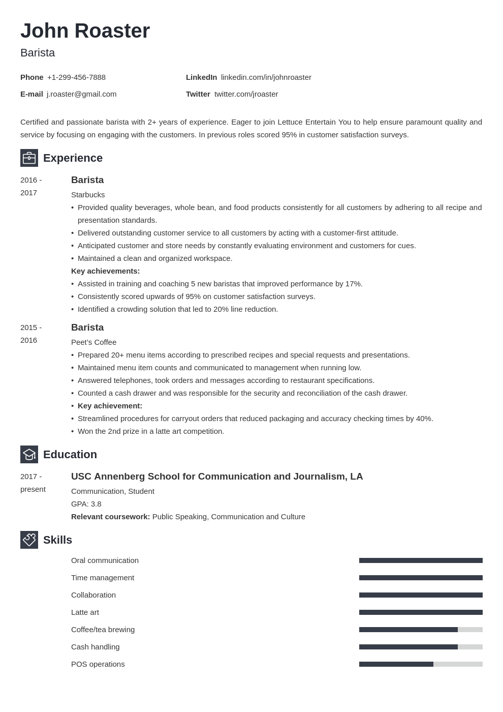 resume interests template newcast