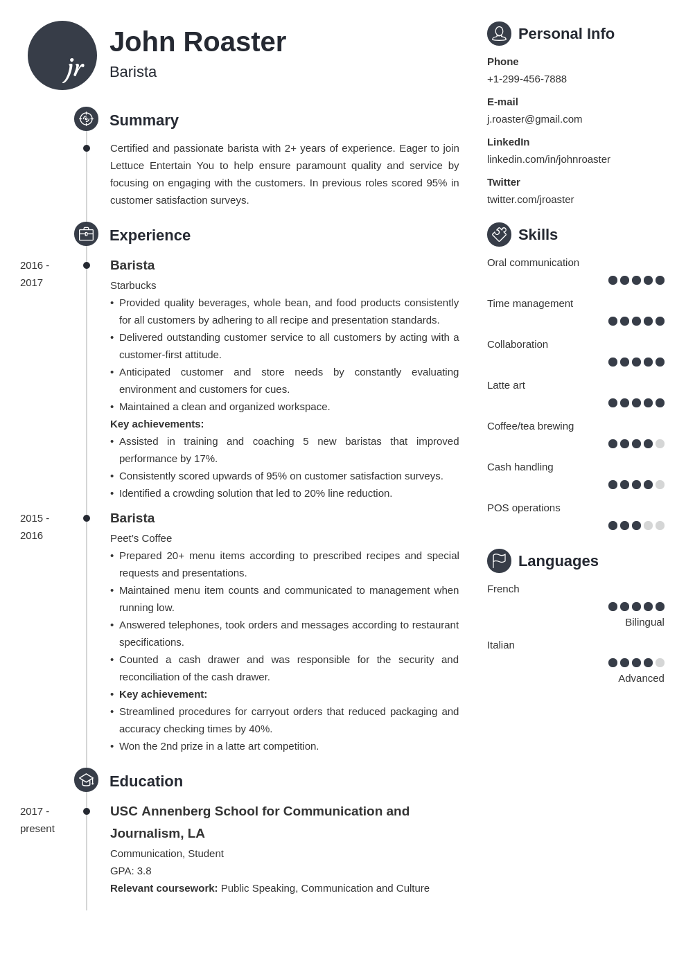 resume interests template primo 1612450747