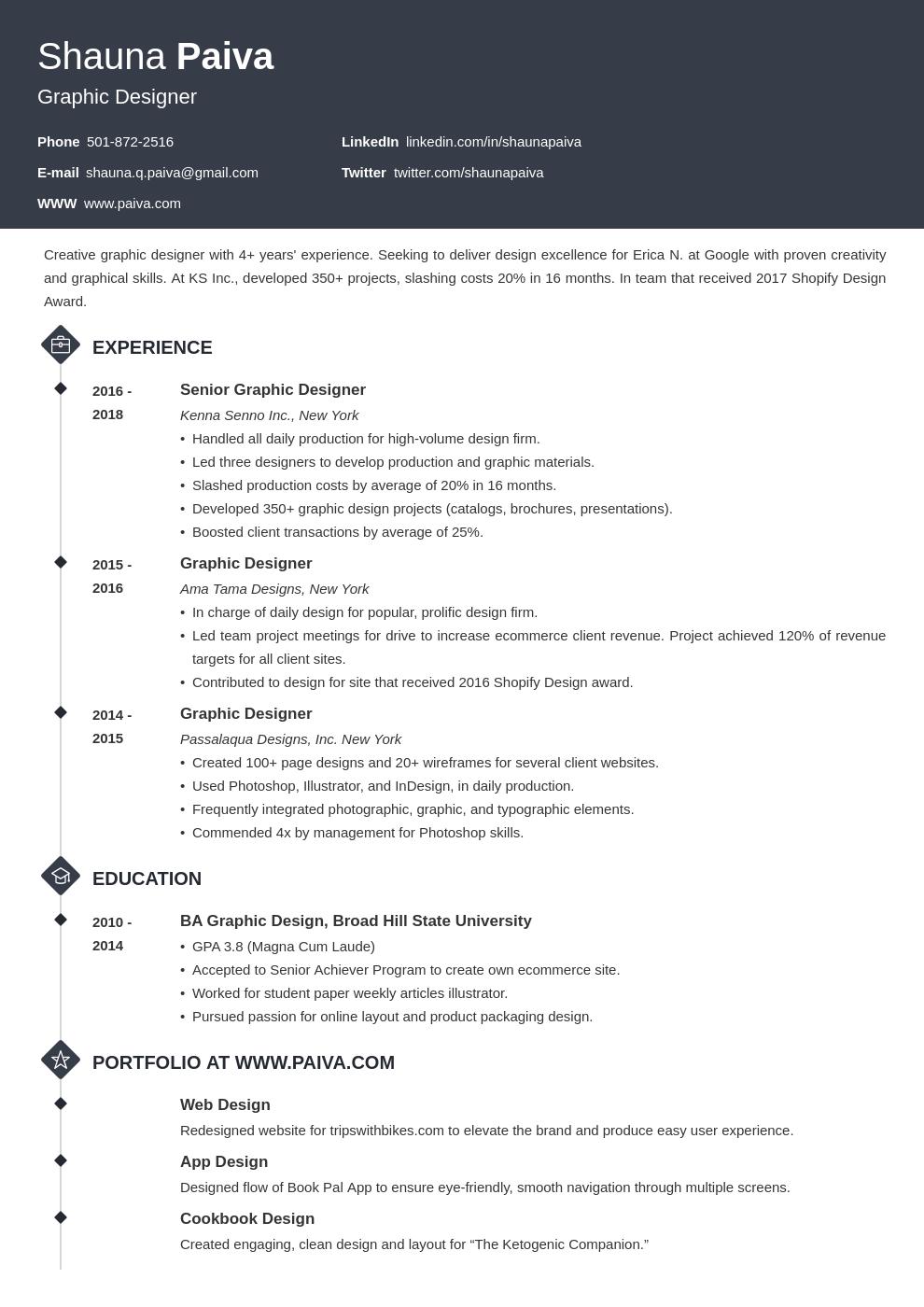 resume look template diamond
