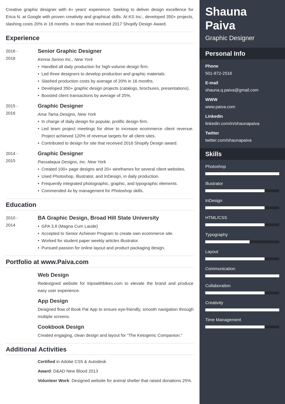 resume look template enfold