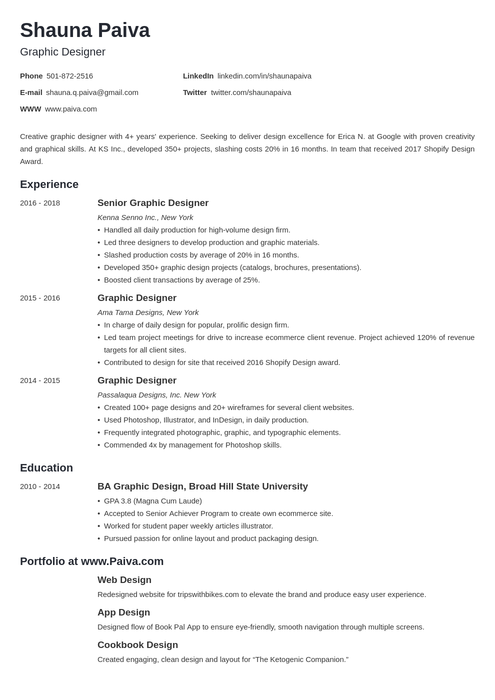 resume look template minimo