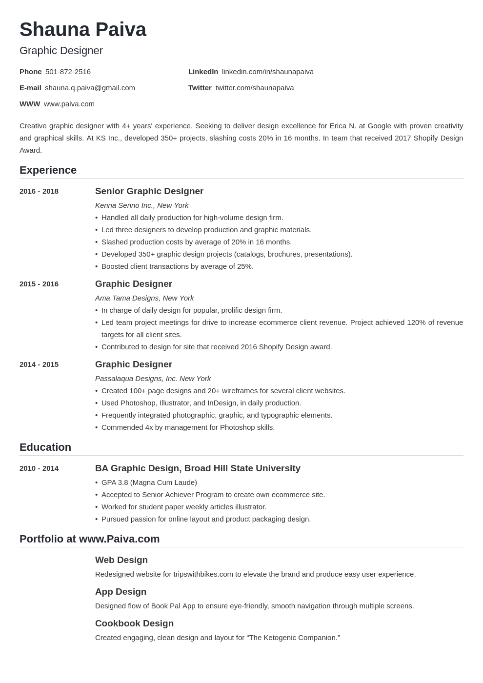 resume look template nanica