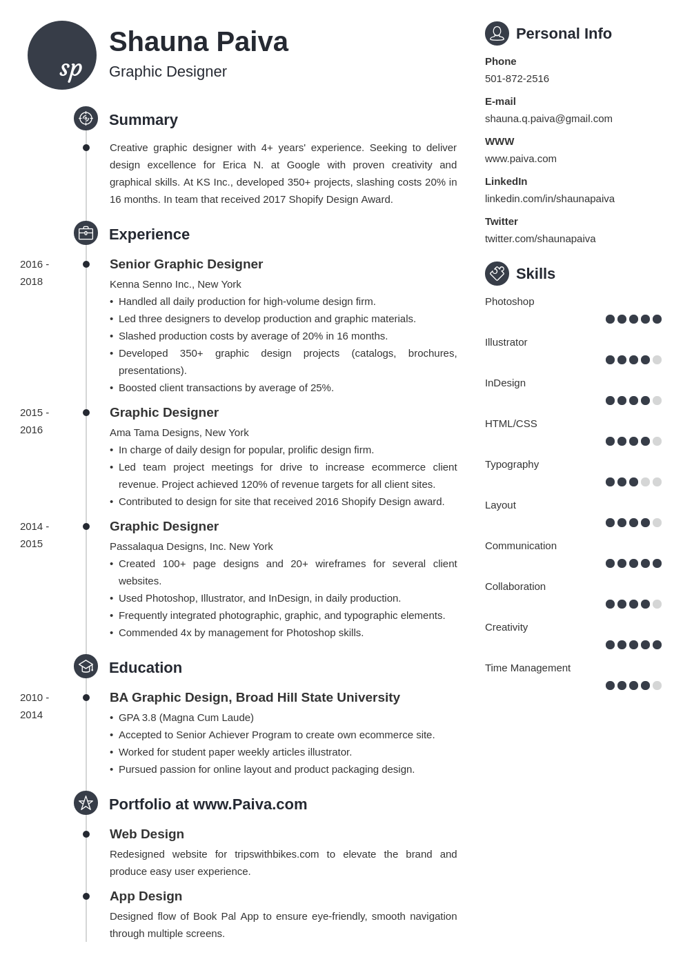 resume look template primo