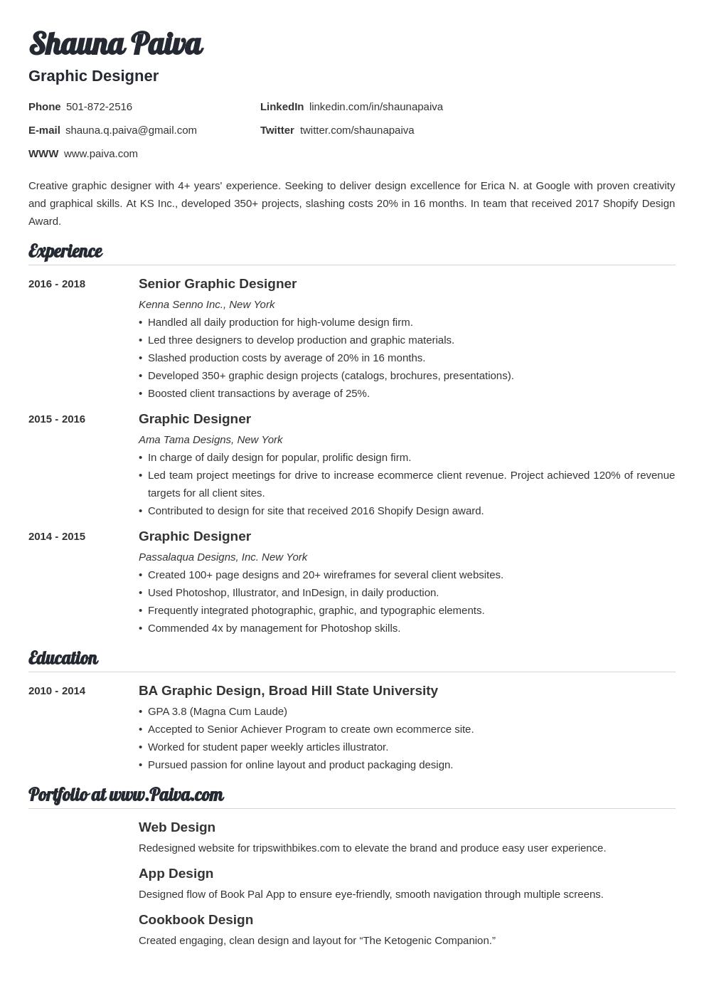 resume look template valera