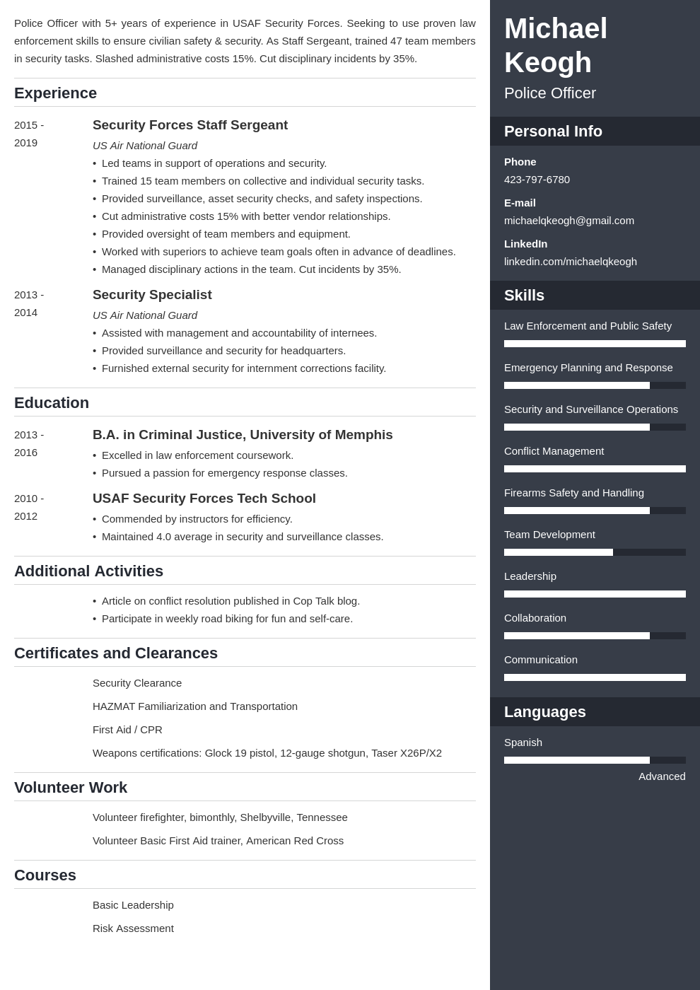 resume military template enfold