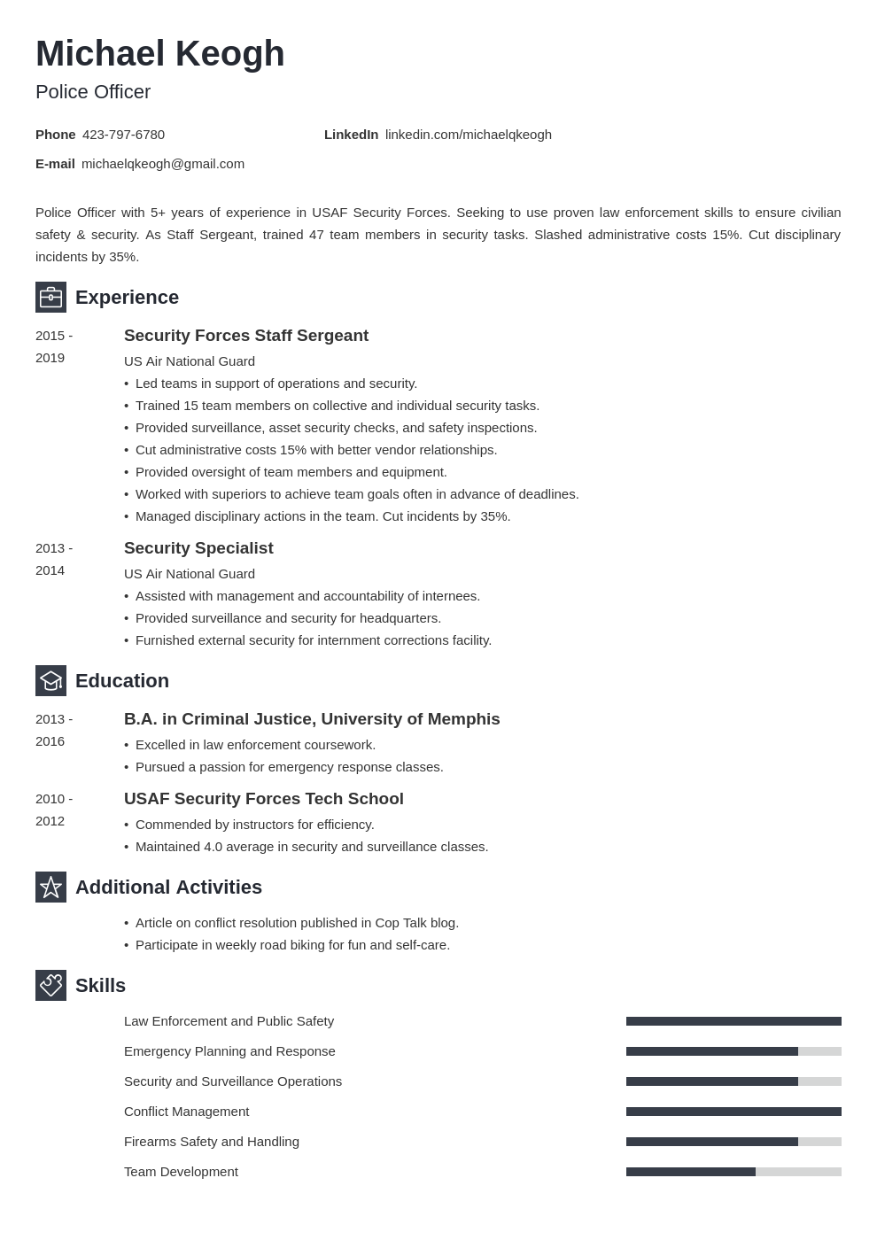 resume military template newcast