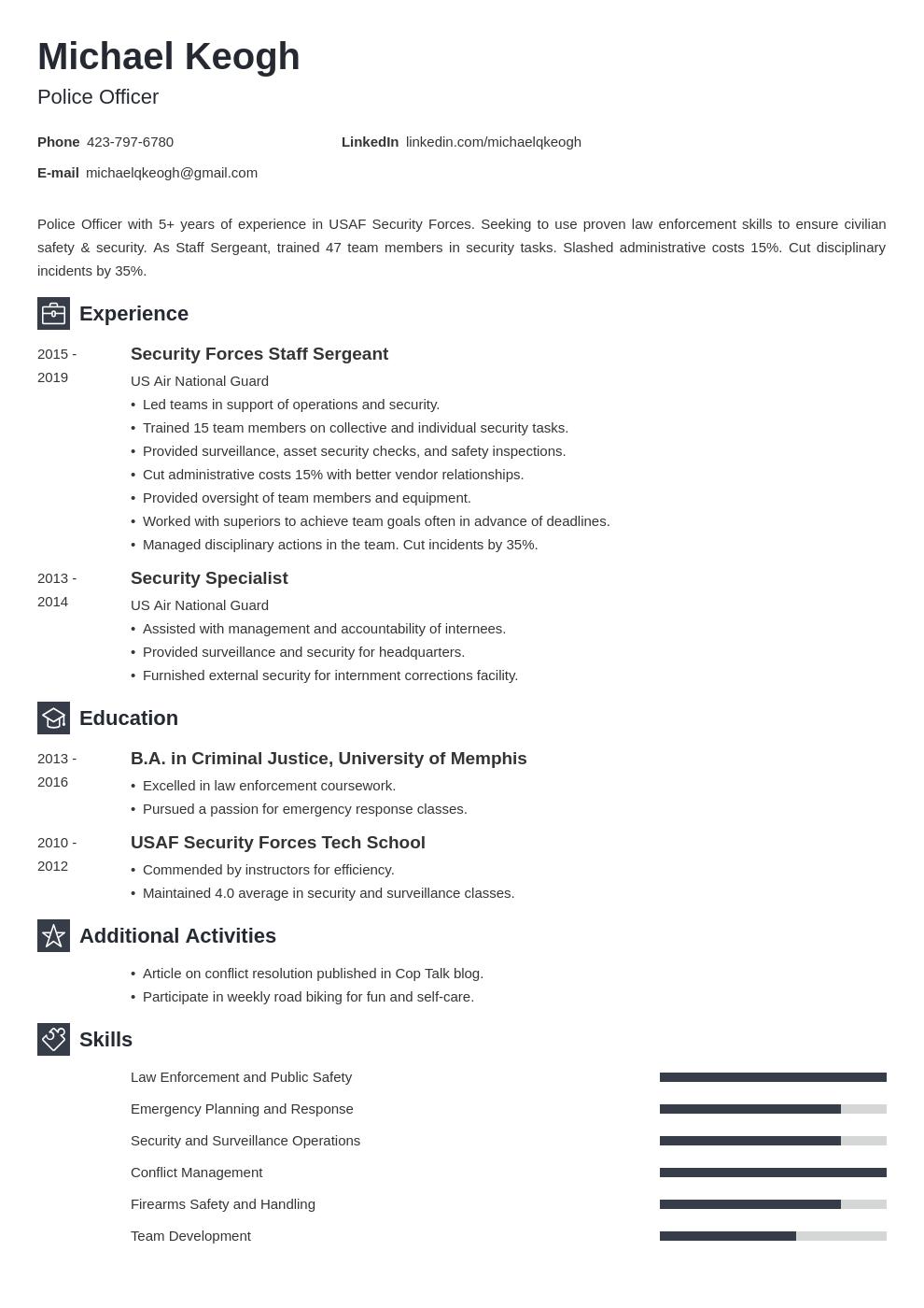 resume military template newcast uk