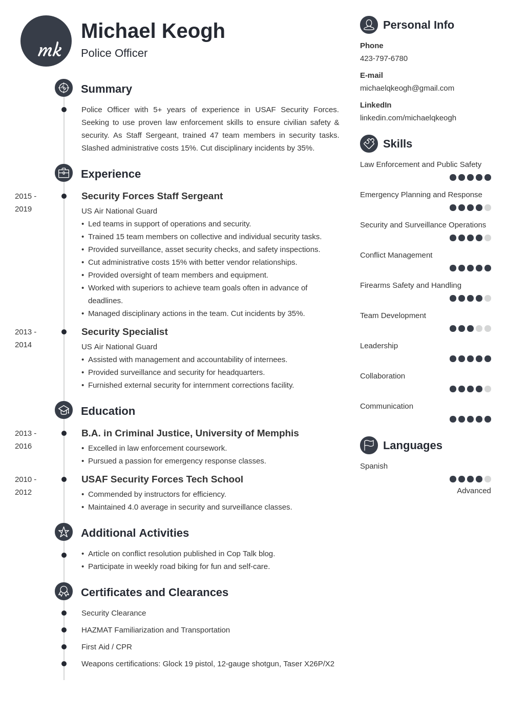 resume military template primo