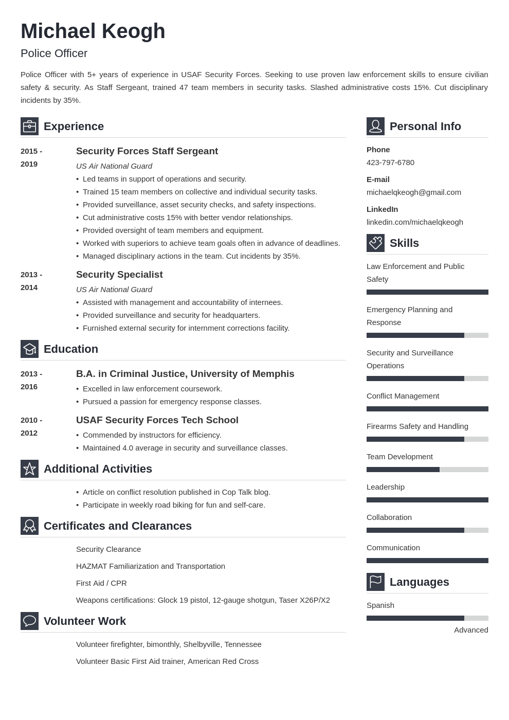 resume military template vibes uk