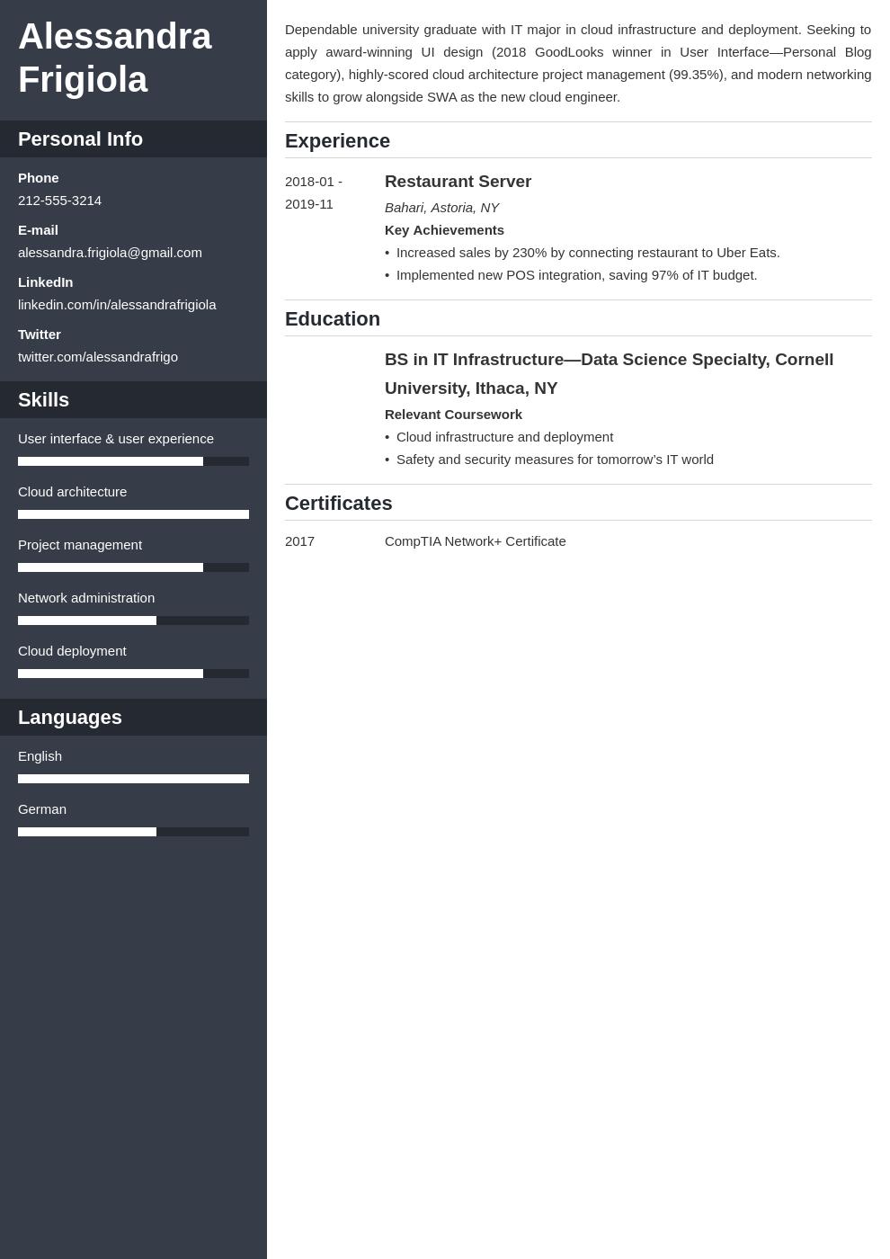 resume objective template cascade uk