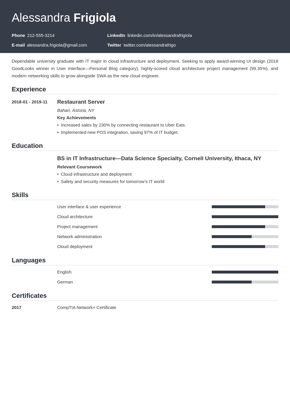 resume objective template influx uk