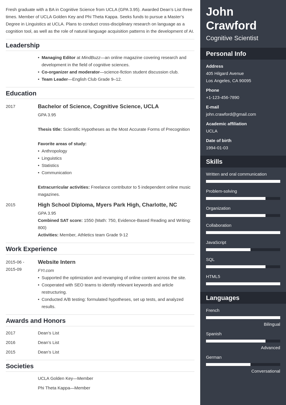 resume scholarship template enfold