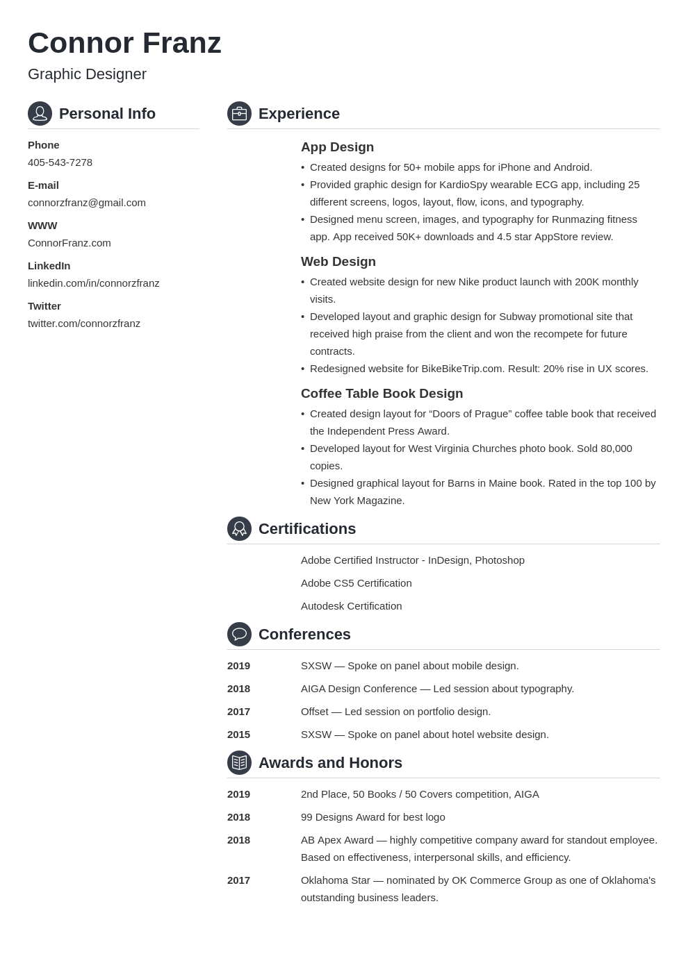 resume two page template crisp