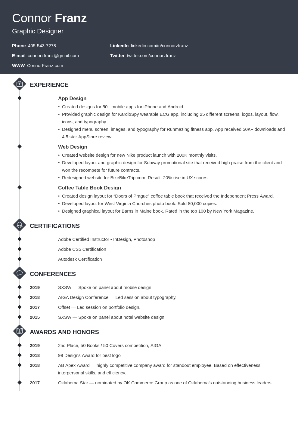 resume two page template diamond