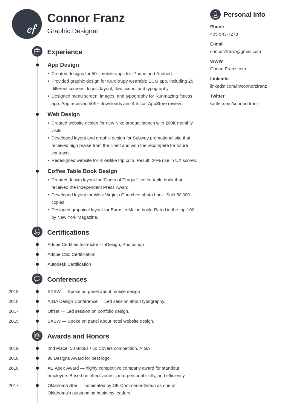 resume two page template primo