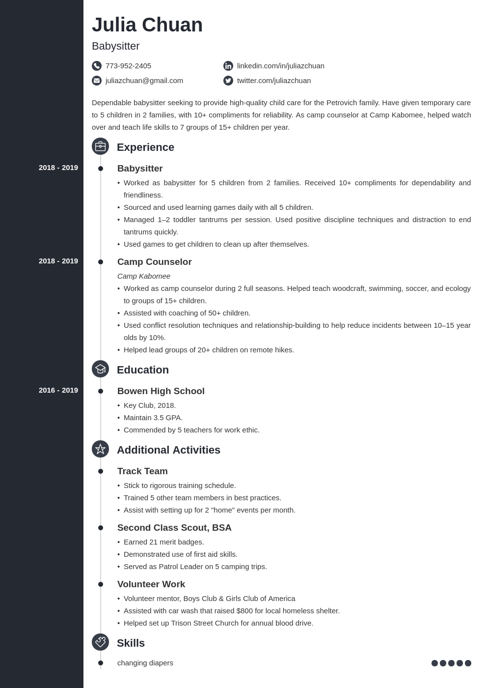 resume volunteering template concept