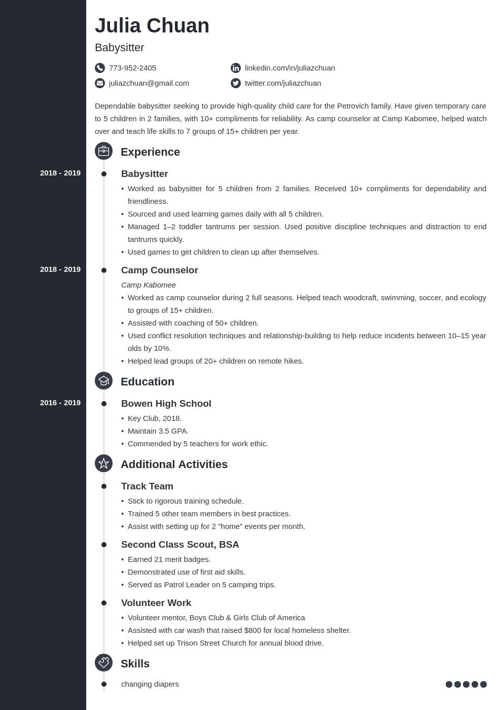 resume volunteering template concept uk